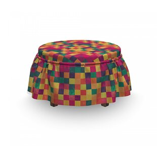 Squares Ottoman Slipcover (Set Of 2) By East Urban Home
