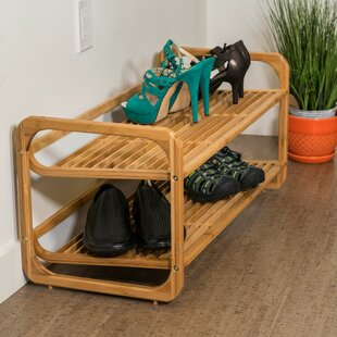 Rebrilliant 2 Tier 6 Pair Shoe Rack