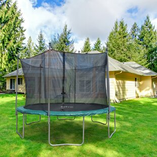 Mallie 12' Backyard: Above Ground Trampoline With Safety Enclosure By Freeport Park