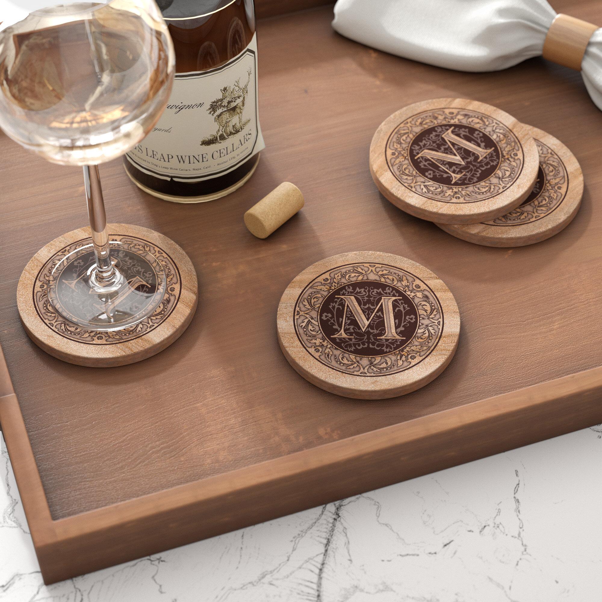 Stone Drink Coasters | Wayfair