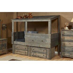 Harriet Bee Gundey Twin Loft Bed with Storage