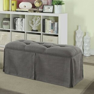 Alcott Hill Berman Tufted Fabric Upholstered Storage Bench