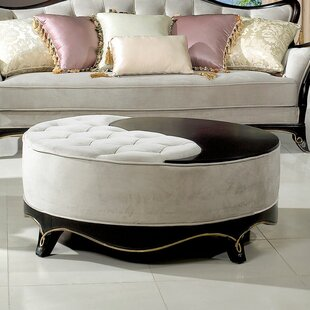 Cocktail Tufted Ottoman by BestMasterFurniture