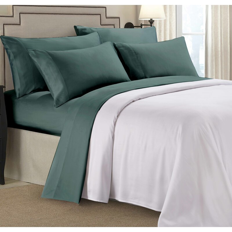 Paarizaat Rayon From Bamboo 300 Thread Count Solid Color Sheet Set