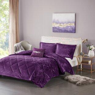 3 Pieces Fleece Duvet Quilt Cover Embossed Teddy Bedding Set Soft Velvet Design