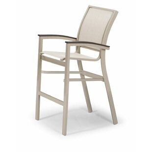 Bazza Grade Polymer/Aluminum Stacking Patio Bar Stool