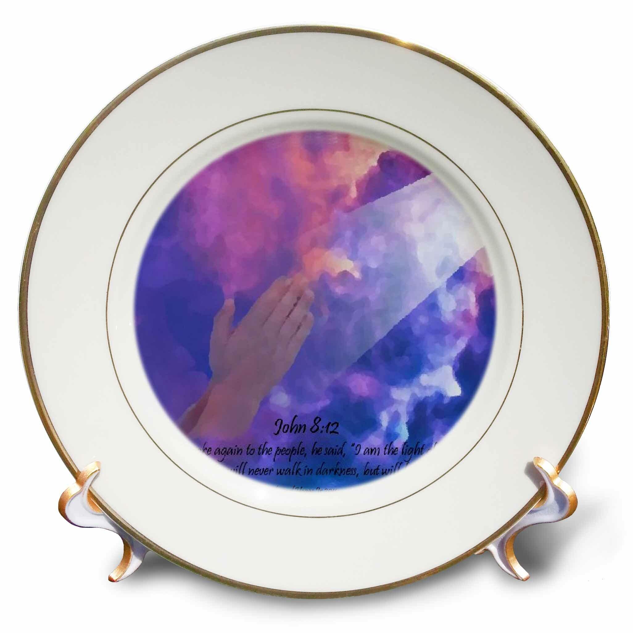 East Urban Home Praying Hands Porcelain Decorative Plate Wayfair