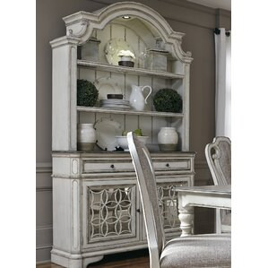 Tiphaine Lighted China Cabinet by Lark Manor