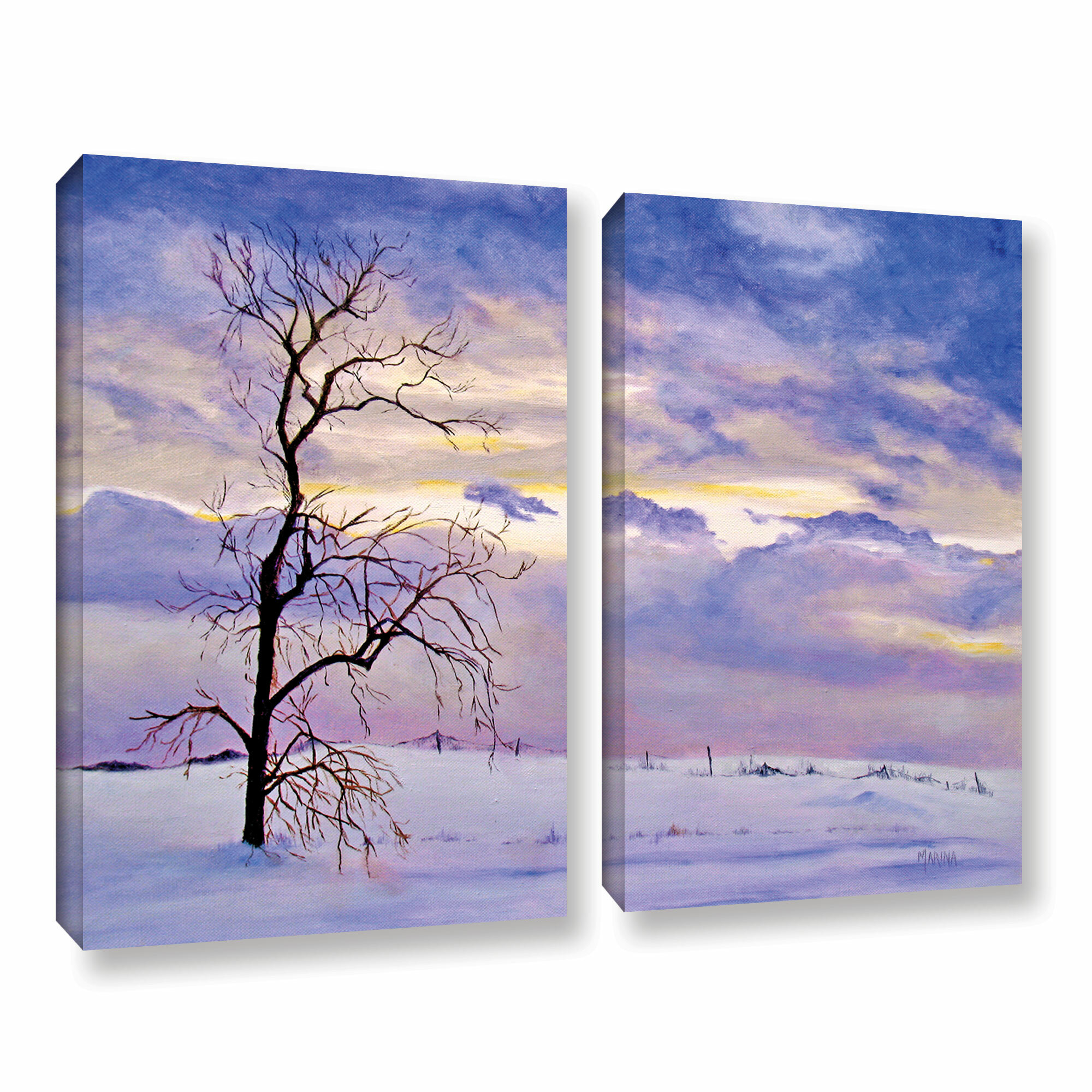 Artwall Solitude By Marina Petro 2 Piece Painting Print On Wrapped Canvas Set Wayfair