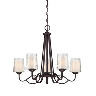 Darby Home Co Bordelon 5-Light Shaded Chandelier