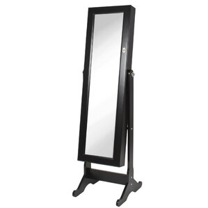 neilsen cheval mirror jewelry armoire with mirror