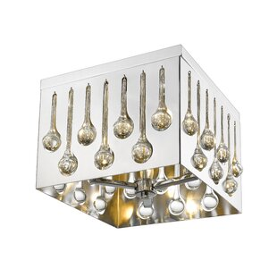 Orren Ellis Gagnon 4-Light Flush Mount