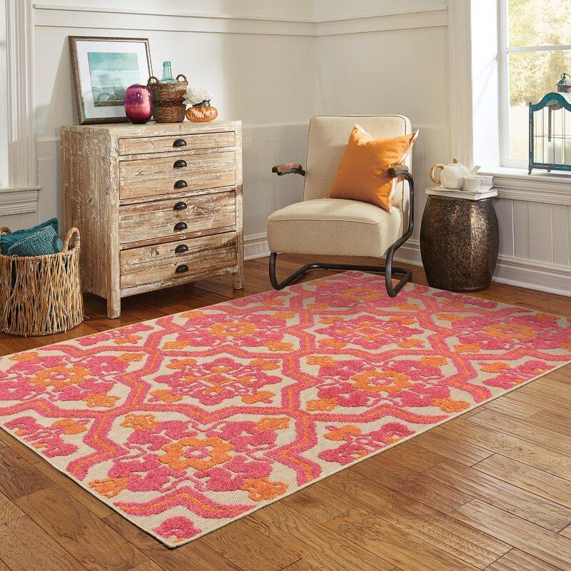 Sol 72 Outdoor Laub Oriental Pink Orange Sand Indoor Outdoor Area Rug Reviews Wayfair