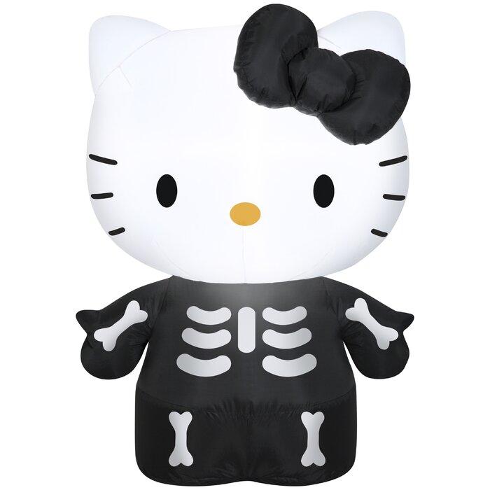 Airblown Hello Kitty As Skeleton Inflatable