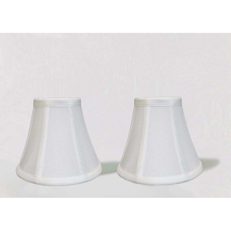 Mercer41 Silk Shantung Bell Lamp Shade Clip On Reviews Wayfair