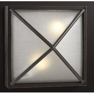 Compare & Buy Halma 2-Light Outdoor Flush Mount By Breakwater Bay