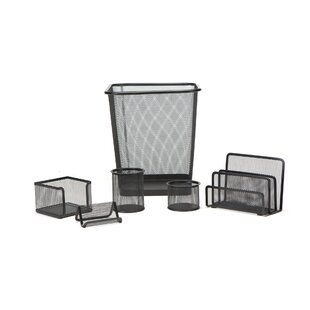 Mind Reader 6 Piece Mesh Desk Organizer Set