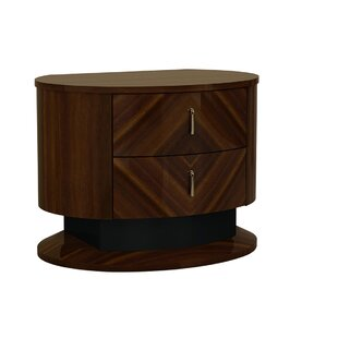 Fort Gibson 2 Drawer Nightstand by Brayden Studio