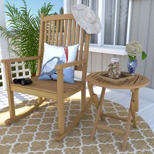 Bristol 2 Piece Patio Chair and Table Set Beachcrest Home