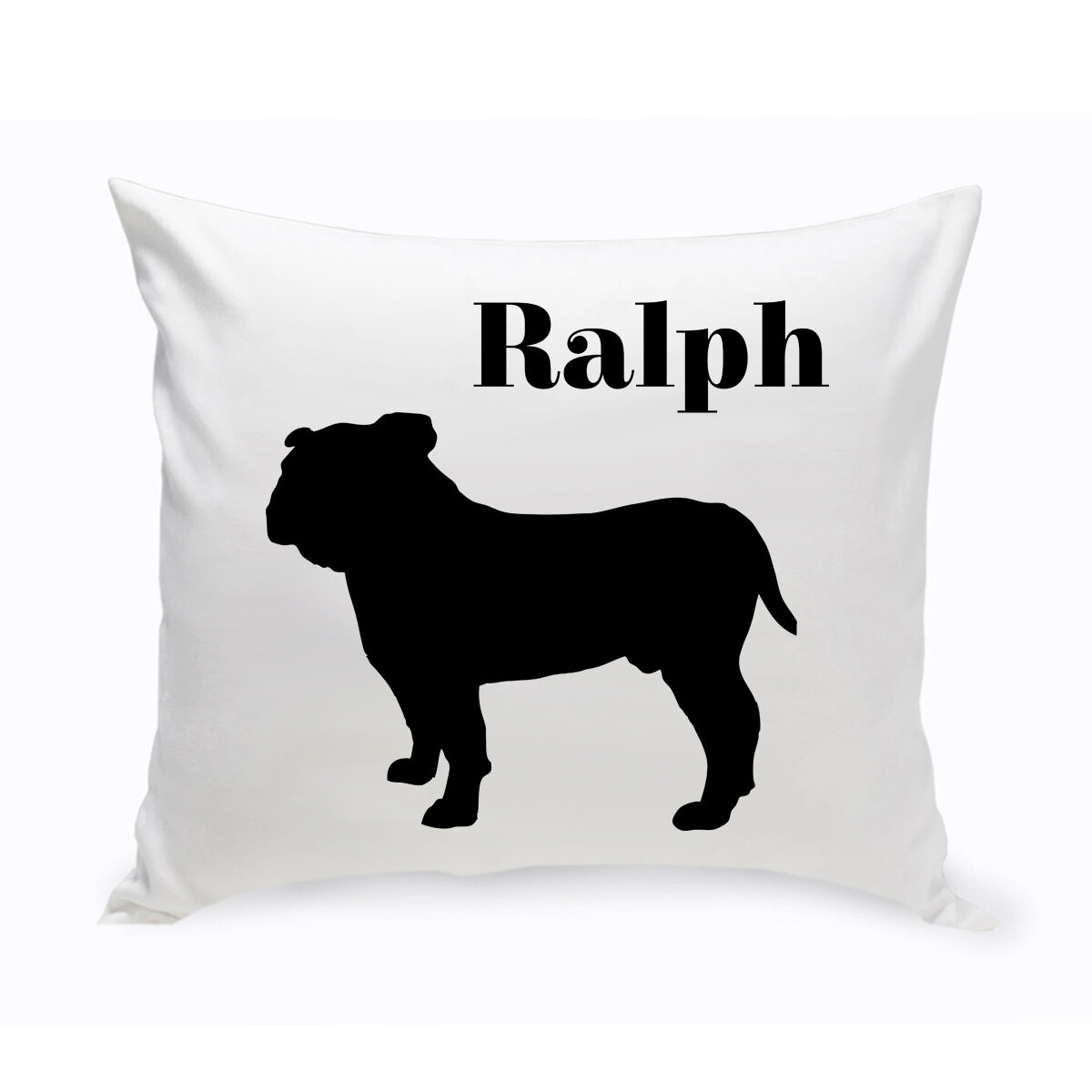 Jds Personalized Gifts Personalized English Bulldog Classic Silhouette Throw Pillow Wayfair