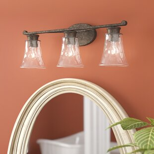 Best Price Channel 3-Light Vanity Light with Clear Watered Glass By Darby Home Co