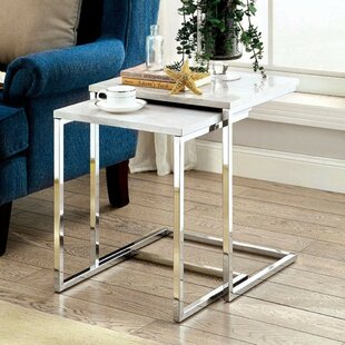 Yeates Spacious Contemporary 2 Piece Nesting Table Set