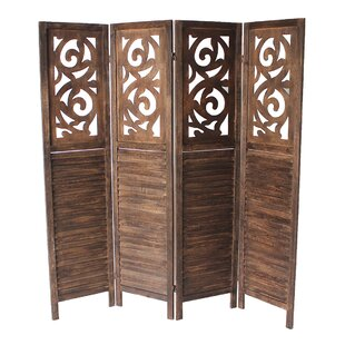 Bargain Mota 4 Panel Room Divider By Bungalow Rose