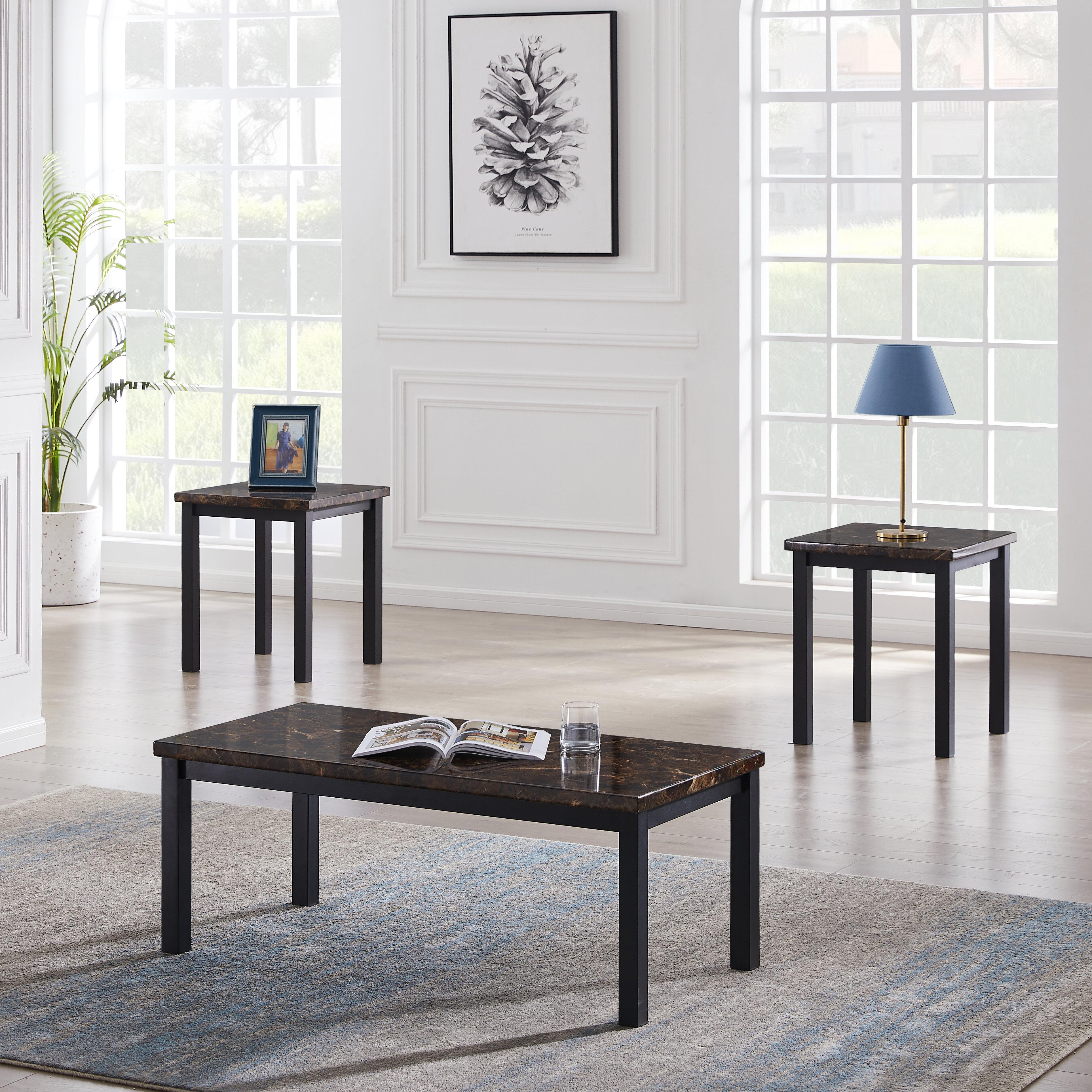 Itapo Faux Marble Top 3 Piece Coffee Table Set Wayfair