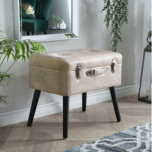 Dalessio Faux Leather Storage Vanity Stool by Mercer41