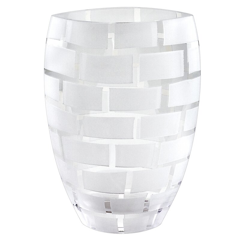 Orren Ellis Alphin White 12 Indoor Outdoor Glass Table Vase Wayfair