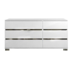 Orren Ellis Wedemeyer Spacious 6 Drawer Double Dresser