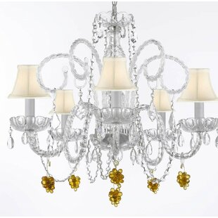 Kellems 5-Light Shaded Chandelier by House of Hampton