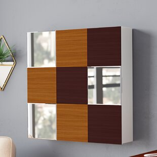 Orren Ellis Caviness Wall Mounted Jewelry Armoire with Mirror