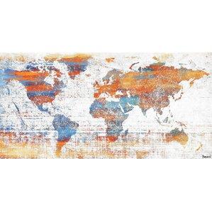 'Warm World' by Parvez Taj Painting Print on Wrapped Canvas