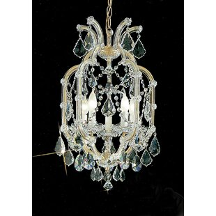 Classic Lighting Maria Thersea 5-Light Candle Style Chandelier