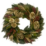 Preserved 20 Holiday Pinecone Wreath byThe Holiday Aisle