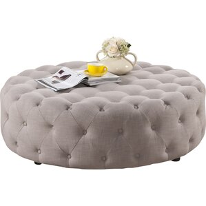 Baxton Studio Cardiff Modern Tufted Ottoman by Wholesale Interiors