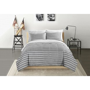 Rutter Stripe Reversible Comforter Set