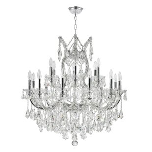 Rosdorf Park Colliers 19-Light Candle Style Chandelier