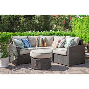 Ezell 4 Piece Sectional Seating Group with Cushions