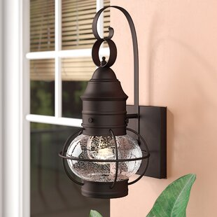 Beachcrest Home Chevalier 1-Light Outdoor Wall Lantern