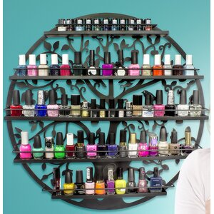 5 Tier Wall Mount Tree Nail Polish Cosmetic Organizer