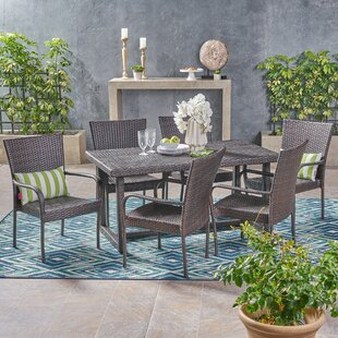 Moshier Outdoor 7 Piece Dining Set
