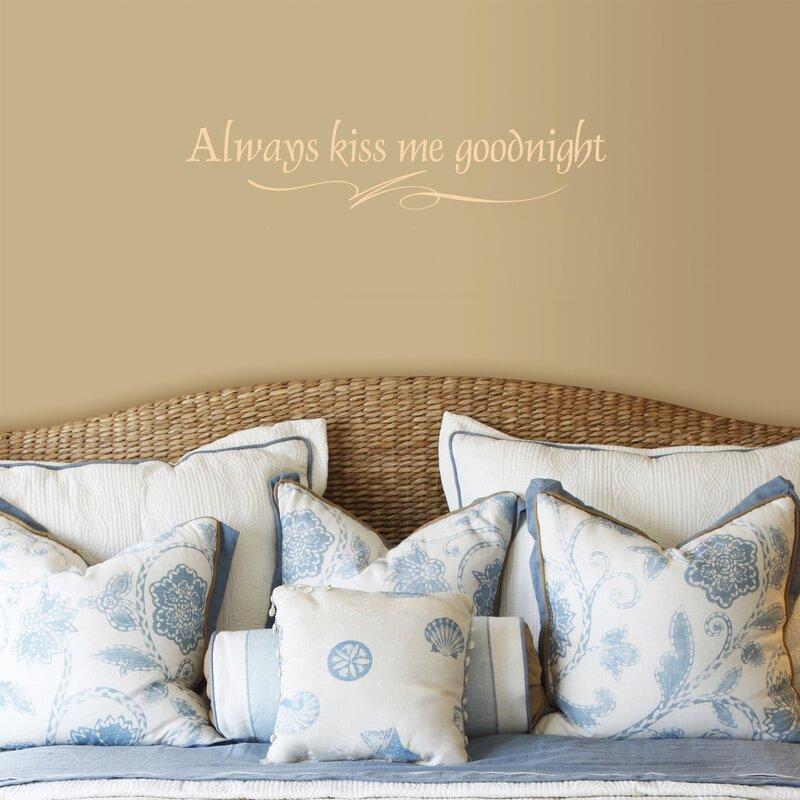 FiresideHome Always Kiss Me Goodnight Wall Decal & Reviews   Wayfair