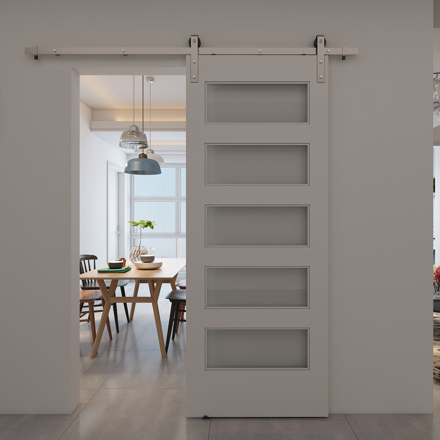 Colonial Elegance Glass Wood Unfinished Barn Door Without Installation Hardware Kit Reviews