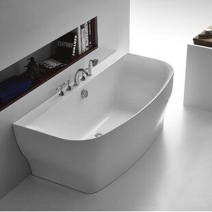 Great Price Bank Series 65'' x 31'' Freestanding Soaking Bathtub ByANZZI