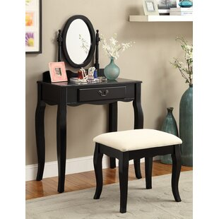 Pleasant Plains Vanity Set with Mirror by Charlton Home