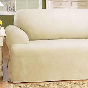 Sure Fit Cotton Duck T-Cushion Sofa Slipcover Image