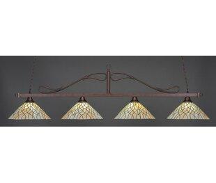 Fleur De Lis Living Reba Tiffany 4-Light Billiard Pendant