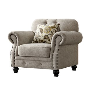 Find for Lathan Chesterfield Chenille Armchair by Charlton Home Reviews (2019) & Buyer's Guide